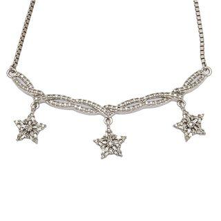 Diamond, Sterling Silver Necklace