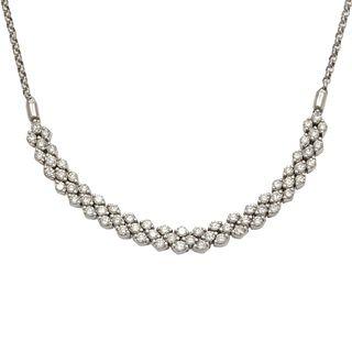 Diamond, 14k White Gold Necklace