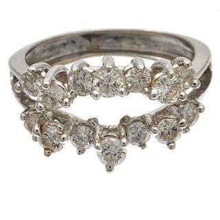 Diamond, 14k White Gold Ring Guard
