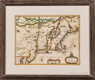 """A Map of New England and New York,"""