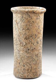 Egyptian Late Period Variegated Granite Jar