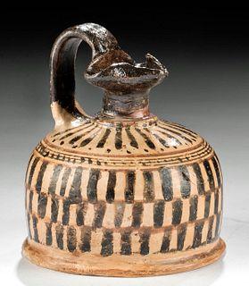 Greek Corinthian Squat Trefoil Oinochoe