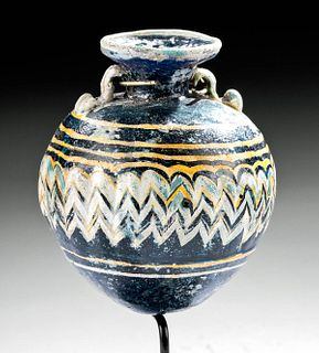 Greek Core Formed Glass Aryballos
