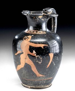Greek Attic Oinochoe - Satyr & Drinking Horn