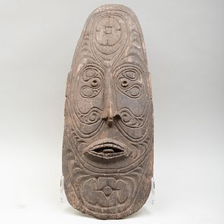 Oceanic Carved Wooden Mask, possibly Papua New Guinea