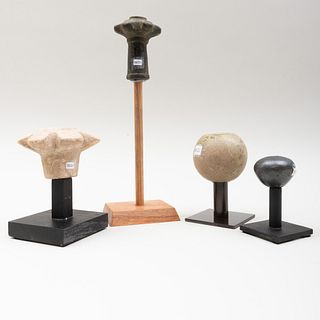 Group of Four Mace Heads