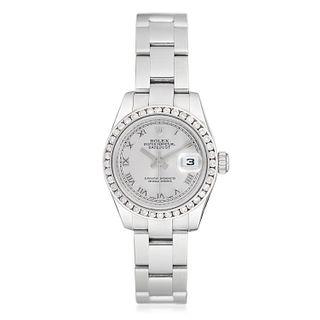 Rolex Datejust Ref. 179160 Diamond Ladies Watch in Steel