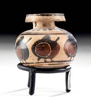 Corinthian Pottery Aryballos with Hoplites