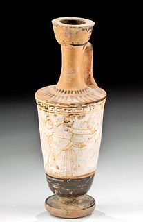 Greek Attic White Ground Lekythos Tymbos Painter