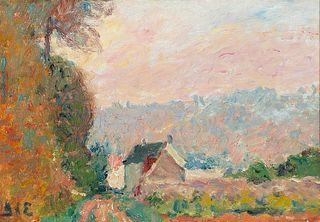 Georges d'Espagnat (Fr. 1870-1950)     -  Maison au Paysage   -   Oil on canvas