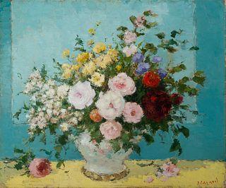"Dietz Edzard (Ger. 1893-1963)     -  ""Vase de Fleurs""   -   Oil on canvas"