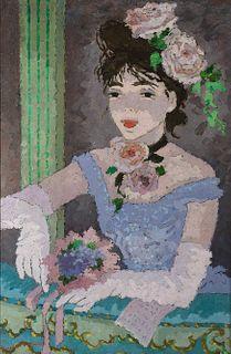 "Suzanne Eisendieck (Fr. 1908-1998)     -  ""Loge au Theatre Fenice""   -   Oil on canvas"