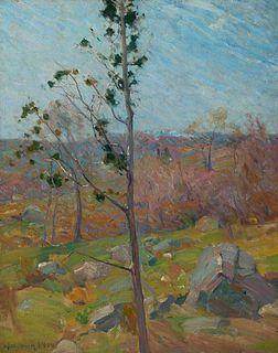Charles Herbert Woodbury (Am. 1864-1940)     -  Single Tree, 1904   -   Oil on canvas
