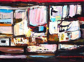 """Alfred Chadbourn (Am. 1921-1998)     -  """"Spanish Elegy"""" 1981   -   Oil on canvas"""