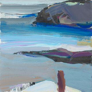 Connie Hayes (Am. 20th Century)     -  Coastal Scene   -   Gouache on paper, framed under glass