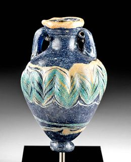 Beautiful Greek Core-Formed Glass Amphoriskos