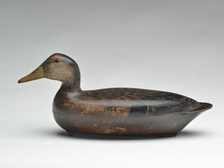 Extremely rare black duck, Bert Graves, Peoria, Illinois, 2nd quarter 20th century.