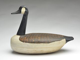 Hollow carved Canada goose, Perry Wilcoxen, Liverpool, Illinois.