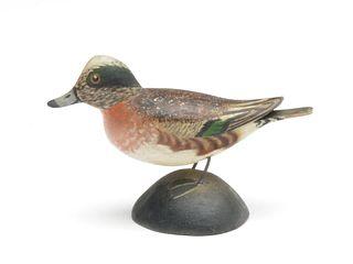 Miniature widgeon, Elmer Crowell, East Harwich, Massachusetts.