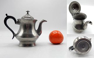 Rare 1-Cup Boardman Pewter Teapot