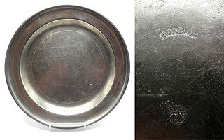"Marked American Pewter 12"" Dish"