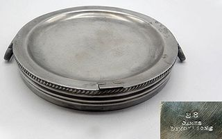 English Pewter Warming Dish