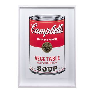 "ANDY WARHOL. II.48: Campbell's Vegetable Soup. Con sello en la parte posterior ""Fill in your own signature"" Serigrafía"