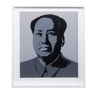 "ANDY WARHOL. Mao - Grey. Con sello en la parte posterior ""Fill in your own signature"" Serigrafía. Publicada por Sunday B. Morning."