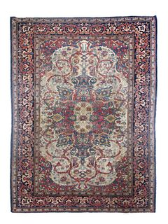 Fine Antique Persian Farahan Saruk 6'10'' x 4'7''