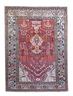 Fine Antique Persian Farahan Rug - 4'9'' X 6'7''