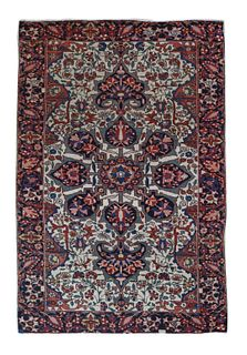 Fine Antique Persian Farahan Sarouk - 3'3'' X 4'11''