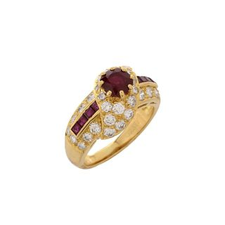 Graff Ruby, Diamond and 18K Ring