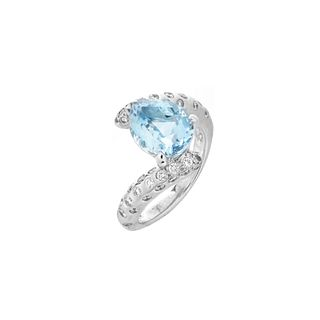 Chanel Aquamarine, Diamond and 18K Ring