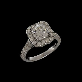 GIA Diamond and 18K Ring