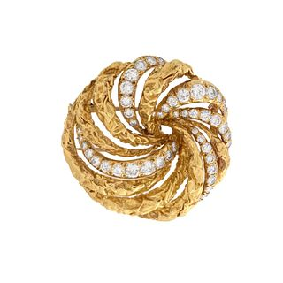 Dior Diamond and 18K Brooch