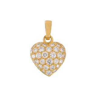 Cartier Diamond and 18K Heart Pendant