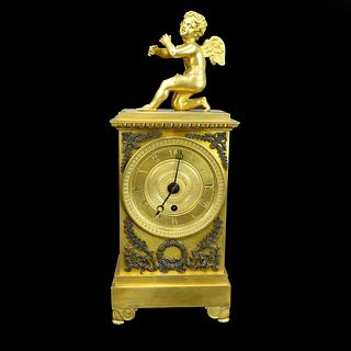 Antique French Louis XVI Style Mantle Clock