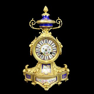 Antique Sevres Style Mantle Clock