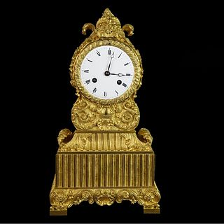 Antique French Rococo Style Mantle Clock