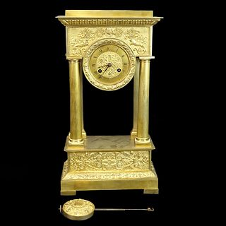 Antique Italian Neoclassical Style Mantle Clock