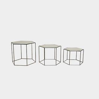 Hexagon Nesting Tables (Set of 3)