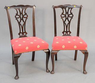 Set of nine Queen Anne style chairs. Estate of Thomas Izard, Avon, CT