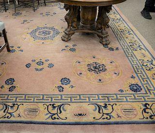"Chinese Oriental carpet, 10' 10"" x 12' 6""."