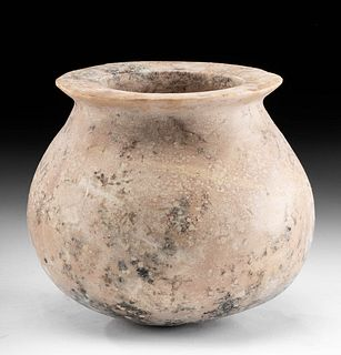 Early Dynastic Egyptian Pink Granite Rimmed Jar