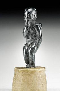 Egyptian Silver Amulet Harpocrates, ex-Royal Athena