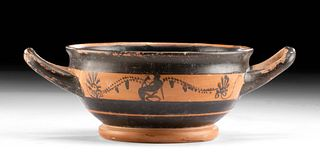 Greek Attic Pottery Kylix - Dionysos & Grapevines