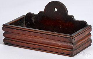 Walnut hanging box, 19th c.