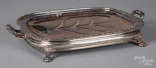 Silver plated warming tray