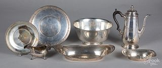 Miscellaneous sterling silver serving pieces
