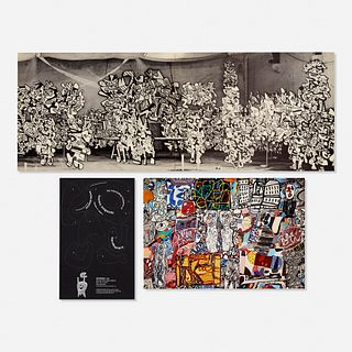 Various, Jean DuBuffet and Isamu Noguchi exhibition mailers (three works)